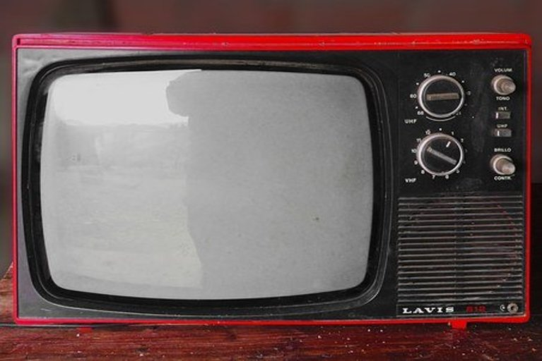 Classic black and white TV