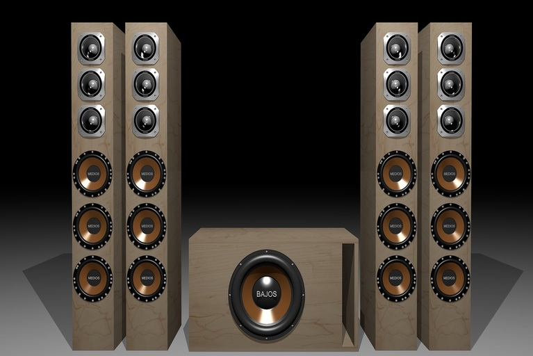 Speakers for home theater system