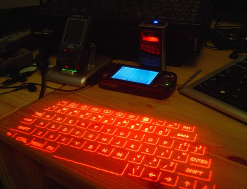 How does a Virtual laser keyboard work?