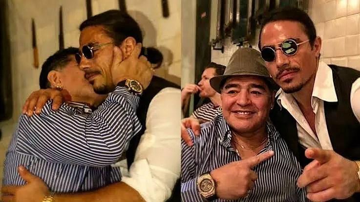 Así fue el homenaje de Salt Bae al fallecido Maradona [VIDEO]