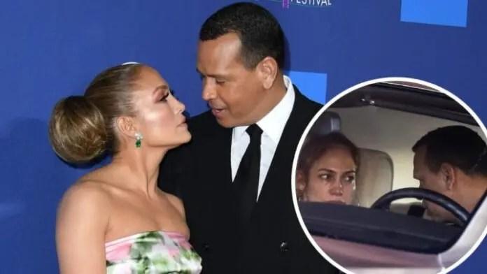 Filtran nuevas fotos de Jennifer López llorando mientras discute con Alex Rodriguez