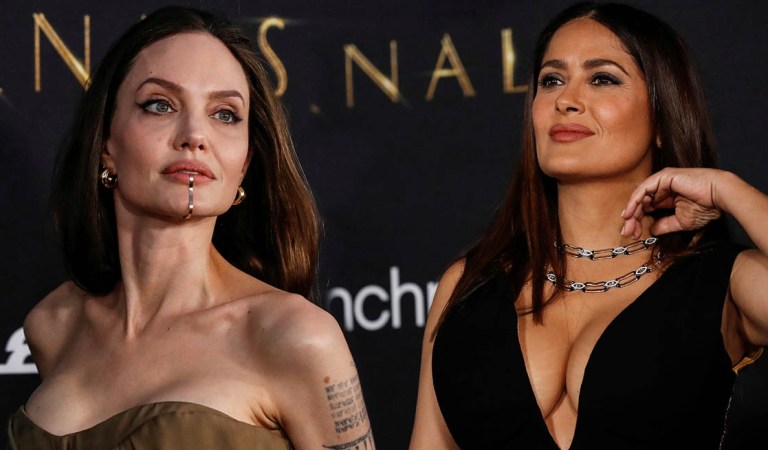 """Salma Hayek y Angelina Jolie deslumbraron en el estreno de """"Eternals"""" 🎞✨"""