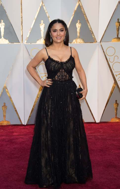 Salma Hayek arrives on the red carpet of The 89th Oscars® at the Dolby® Theatre in Hollywood, CA on Sunday, February 26, 2017.