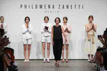 BERLIN, GERMANY - JUNE 29: Designer Julia Leifert poses at the Philomena Zanetti show during the Mercedes-Benz Fashion Week Berlin Spring/Summer 2017 at Stage at me Collectors Room on June 29, 2016 in Berlin, Germany. (Photo by Victor Boyko/Getty Images for IMG) *** Local Caption *** Julia Leifert