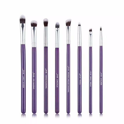 Jessup Essential Eye Brushes Set Purple Silver T098