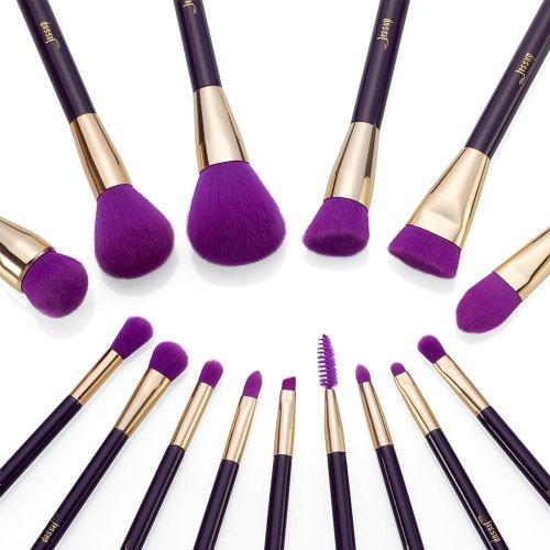 Jessup Colorful Brushes Set Purple Dark-Violet
