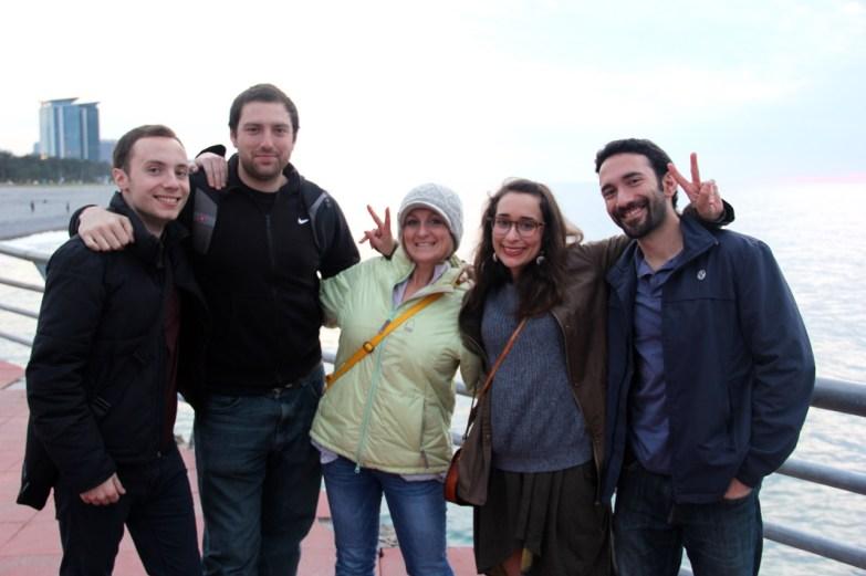 With Chris (a TLG volunteer), Eric (a Fulbright ETA), Anne, Betty (TLG volunteer in Gori) and Matt (former TLG volunteer)