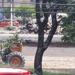 SIOP convierte en escombros obra recién hecha