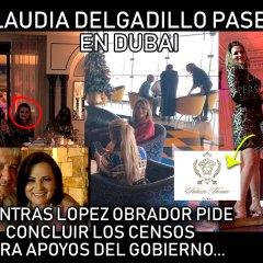 """Ex Priísta Claudia Delgadillo pasea en Dubai; es """"Servidora de la Nación"""" por MORENA"""