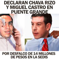 Declaran en Puente Grande Chava Rizo y Miguel Castro por desfalco en SEDIS