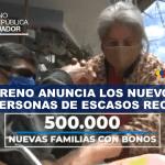 Lenín Moreno anuncia los Nuevos Bonos para Personas de Escasos Recursos