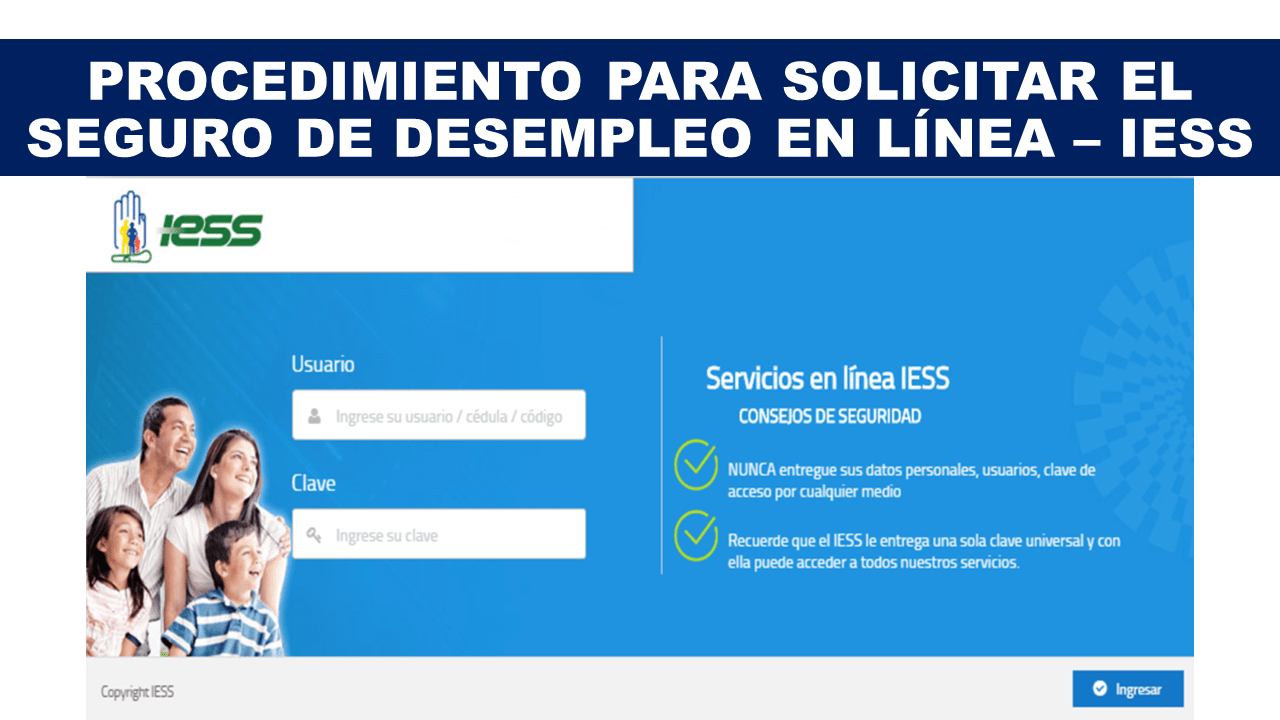 Procedimiento para solicitar el seguro de desempleo en línea – IESS