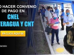 Como hacer convenio de pago en CNEL, INTERAGUA y CNT