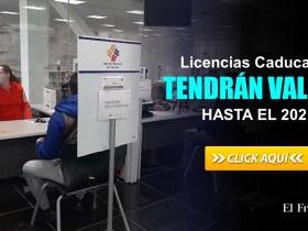 Licencias Caducadas en el 2020 tendrán validez hasta el 2021