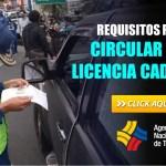 Requisitos para Circular con Licencia Caducada ANT