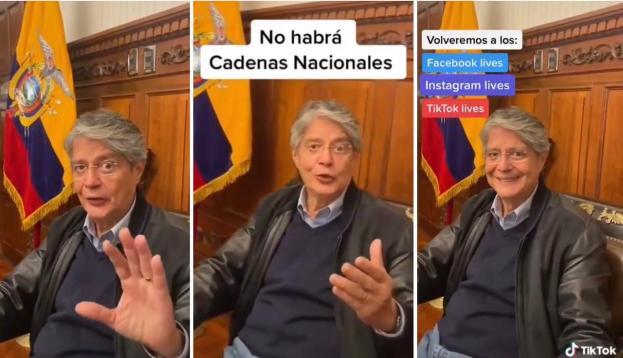 Guillermo Lasso anuncia que dará mensajes en vivo por Facebook, Instagram y Tik Tok
