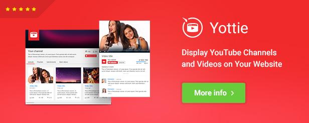 Yottie - YouTube Channel WordPress Plugin