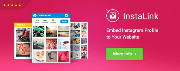 InstaLink - Widget Instagram para WordPress
