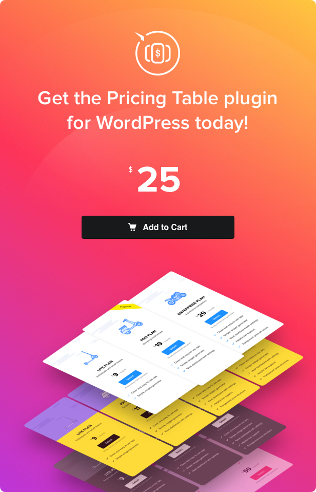 WordPress Pricing Table Plugin 13