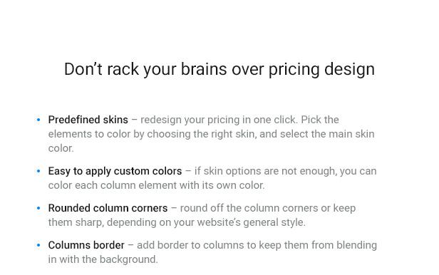 WordPress Pricing Table Plugin 4