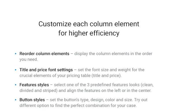 WordPress Pricing Table Plugin 6