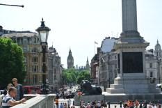 Trafalgar Square med Big Ben
