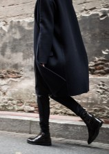 oversize coat and Chelsea boots