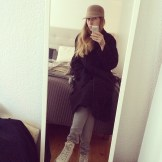 #ootd today, I chose hat over heels