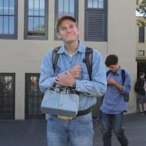 Senior Adam O'Regan rocked all denim in his Western outfit