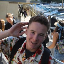 Junior Connor Pfaff poses in the ever-popular Hawaiian shirt