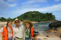 Mr. Autrey and friends in Brazil