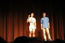 """Steven Schunk wears a diaper after losing """"What are the Odds""""."""