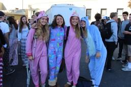 Sophomores strut in their cozy attire.