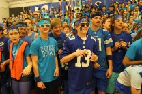 Sophomores eagerly watch their classmates compete in rally games.