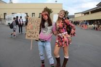 Juniors show off their 70s hippy pride