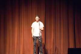 "Xavier Downs recite his poem ""Sequel to the audience."