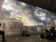 In a tumultuous collision of Van Gogh's Le Moulin de la Galette series, several interpretations of the same Parisian windmill spin furiously beneath a stormy sky.