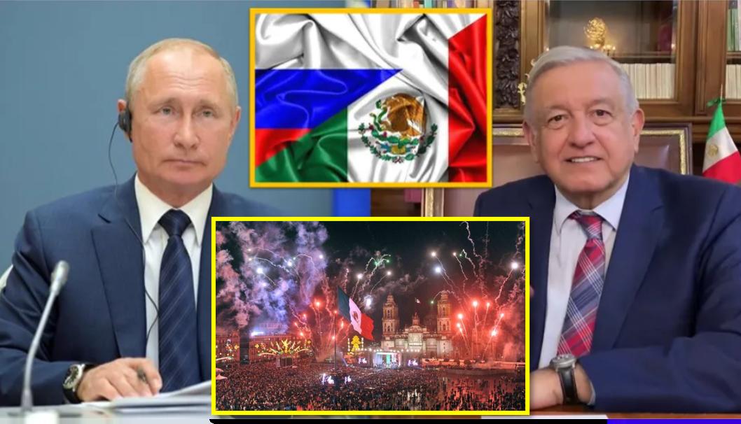 AMLO invita a Vladimir Putin a celebrar los 200 años de la independencia de México