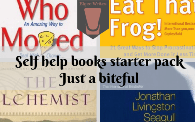 Review shots: Self help books for those who don't read non fiction AKA the ultimate self help books starter pack