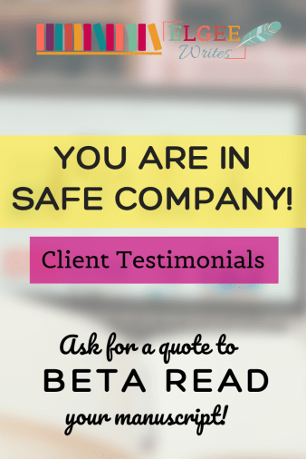 Beta reader testimonials Pin me