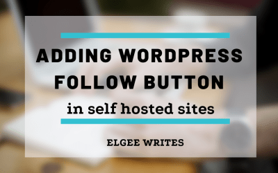 Adding WordPress follow button to your self hosted sites