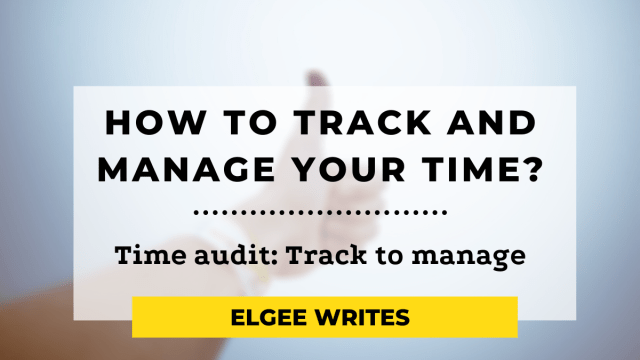 Manage your Time audit Feature