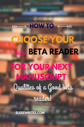 Choose the ideal beta reader pinterest