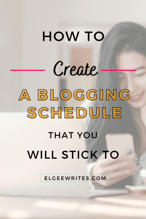Create a blogging schedule that you'll stick to pinterest