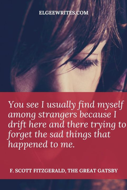 Quotes from The great gatsby about strangers