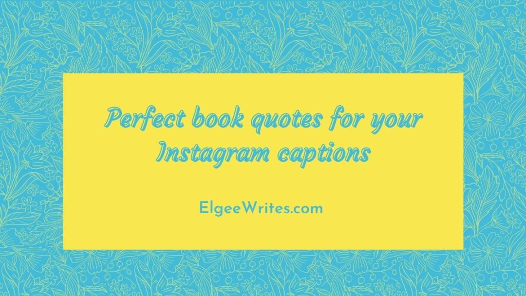 Book quotes for Instagram Caption Featured