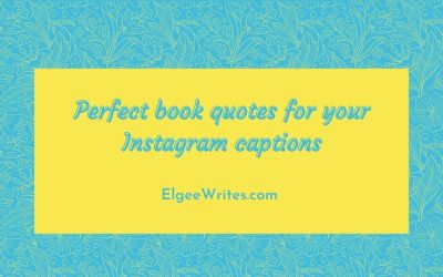 Perfect book quotes for Instagram captions