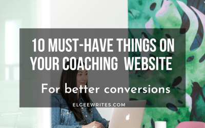 10 must-have things on your coaching business website to improve conversions