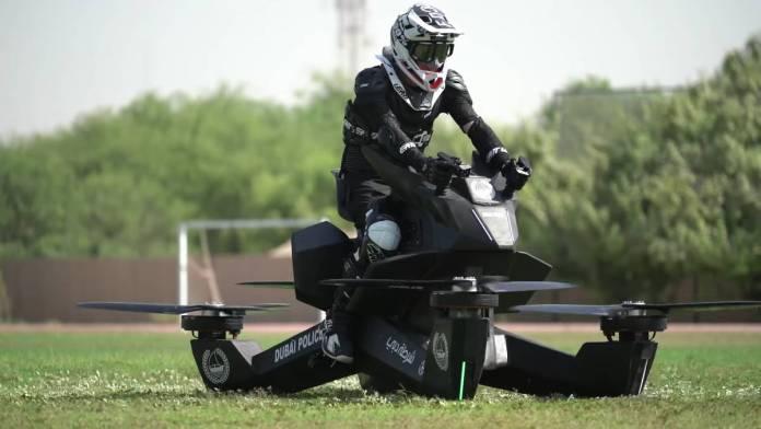 La policía de Dubai incorpora motos voladoras