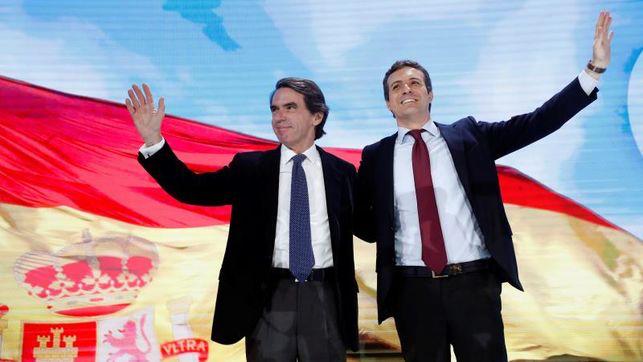 Aznar «se moja» y saca los colores a VOX